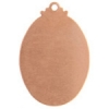 Metal Blank 24ga Copper Oval 32x22mm With Hole